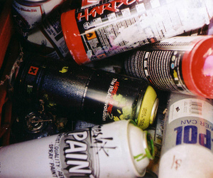 cans, film, and graff image
