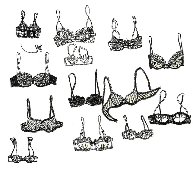 bra and drawing image
