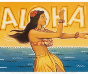 Aloha, girl, and happy image