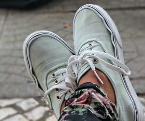 vans, fashion, and floral image
