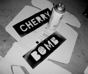 cherry bomb, the runaways, and black and white image