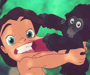 tarzan, disney, and monkey image