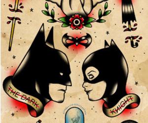 batman, catwoman, and tattoo image