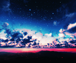 beautiful, clouds, and night image