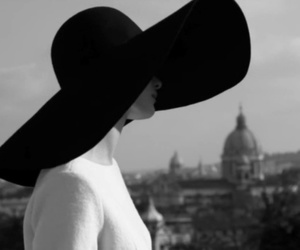 black and white, fashion, and hat image