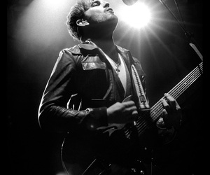 caleb followill, kings of leon, and black and white image