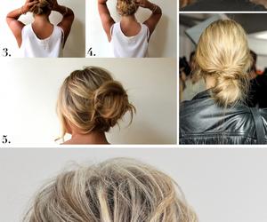 girl, braid, and bun image