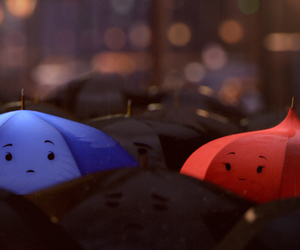 umbrella, blue, and red image