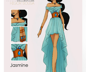 jasmine, disney, and princess image