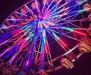 cool, ferris wheel, and nocturnal image