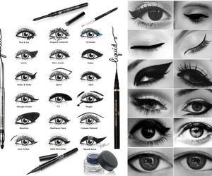 black, eyes, and eyeliner image
