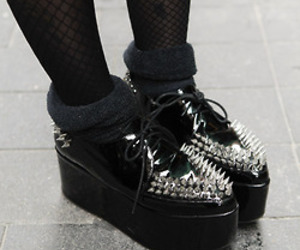black, creepers, and gothic image