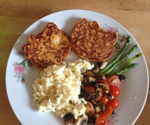 eggs, healthy, and hello kitty image