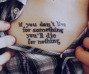 tattoo, quotes, and live image