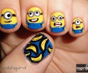 nails, minions, and banana image