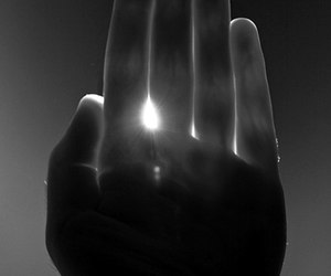 hand, sun, and light image