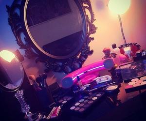girl, make up, and mirror image