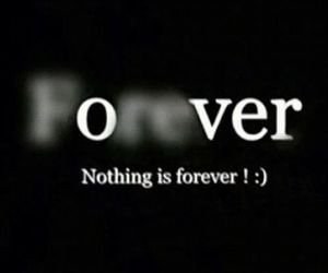 forever, over, and nothing image