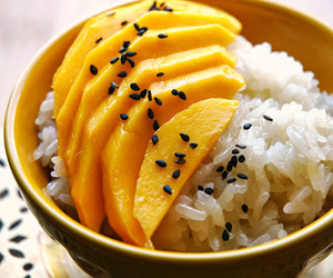 coconut, dessert, and mango image