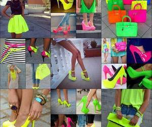 neon, shoes, and bag image