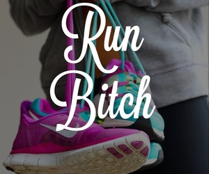 run, bitch, and nike image
