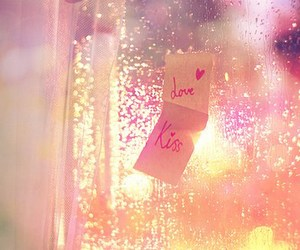 love, kiss, and pink image