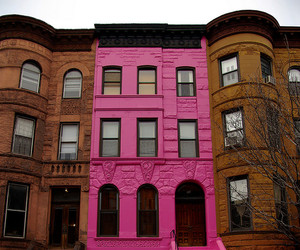 architecture, brownstone, and building image