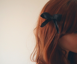 bow, hair, and redhead image