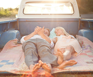 chevy, couple, and truck image