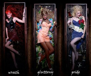 7 deadly sins, girl, and model image