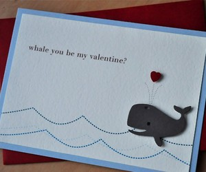 whale, cute, and valentine image