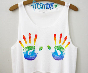 fashion, rainbow, and hands image