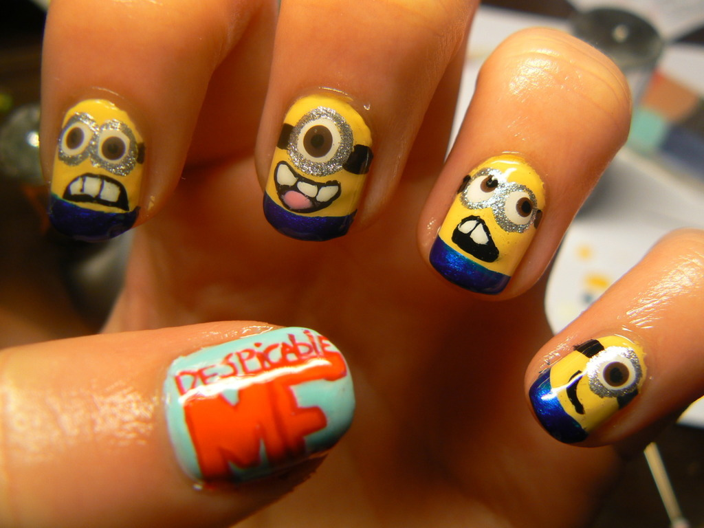 minions, yellow, and blue image