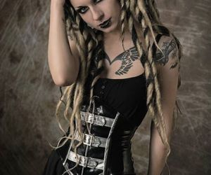 alternative, dreads, and goth image