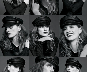 jessica chastain, actress, and black and white image