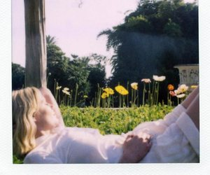 flowers, girl, and Kirsten Dunst image