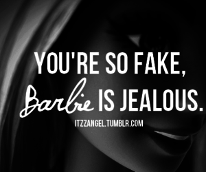 barbie, fake, and jealous image