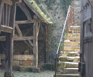 antique, stairway, and rustic image