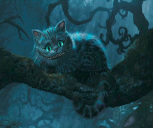 alice in wonderland, Cheshire cat, and cute image