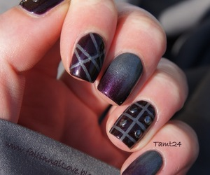 black nails, fashion, and girls image