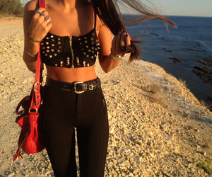 style, beach, and california image