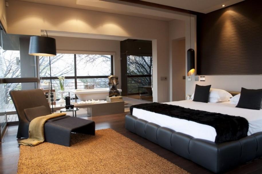 Bedroom Designs: Inspiring Design Master Bedroom Suite Ideas With Grey Sofa Arch Lamp, Master Bedroom Design, Bedroom Design ~ Gnibo.com