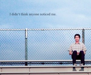 logan lerman, alone, and quote image