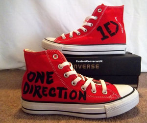 one direction, converse, and red image