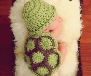 baby and turtle image