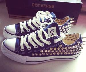 converse, shoes, and blue image