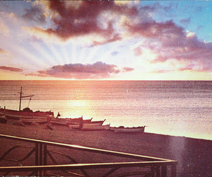 beach, summer, and boats image