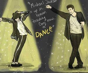 cory monteith, dance, and michael jackson image