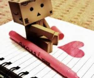 heart, danbo, and box image