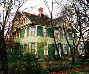 house, vintage, and green image